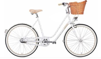 ladies poka dot bike